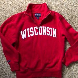 Wisconsin quarter zip jansport small
